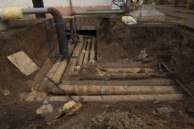 New insulated water pipes